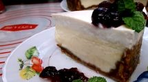 מאפה | ניו יורק קרם צ'יז עוגת גבינת שמנת בציפוי שמנת חמוצה