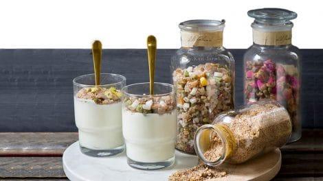 """מלבי עם חליטת פירות של """"חוות דרך התבלינים"""" בבית לחם הגלילית   צילום: הדס ניצן   עיבוד צילום: שולי סונגו"""
