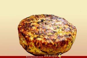 פשטידת תפוחי אדמה ביצים וירקות מחאמר בסגנון מרוקאי