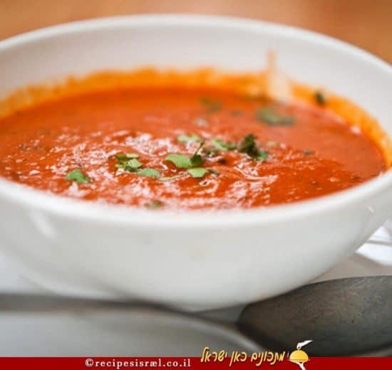 מרק עגבניות ואורז של קפה גרג | צילום: אסף לב | עיבוד צילום: שולי סונגו